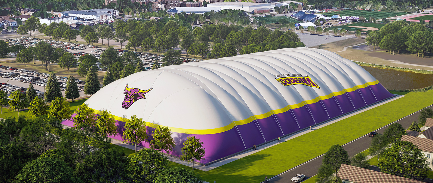 Aerial view of the Maverick All-Sports Dome