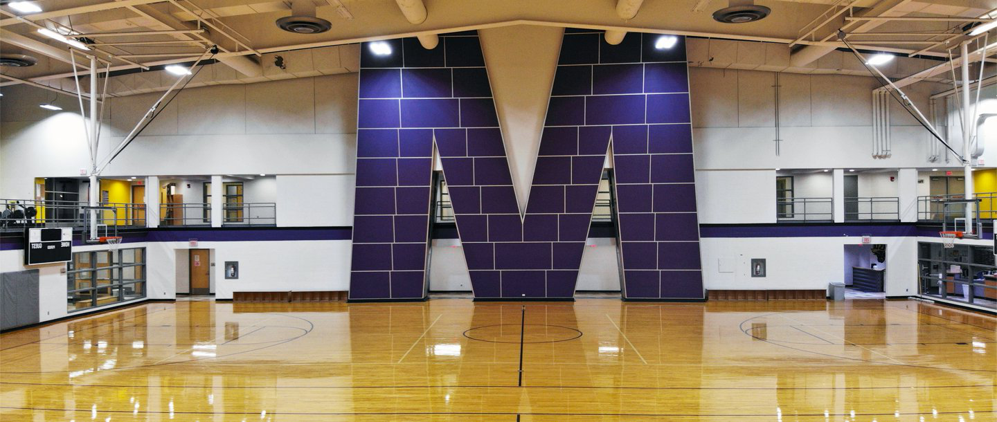The big M in the Otto Recreation Center